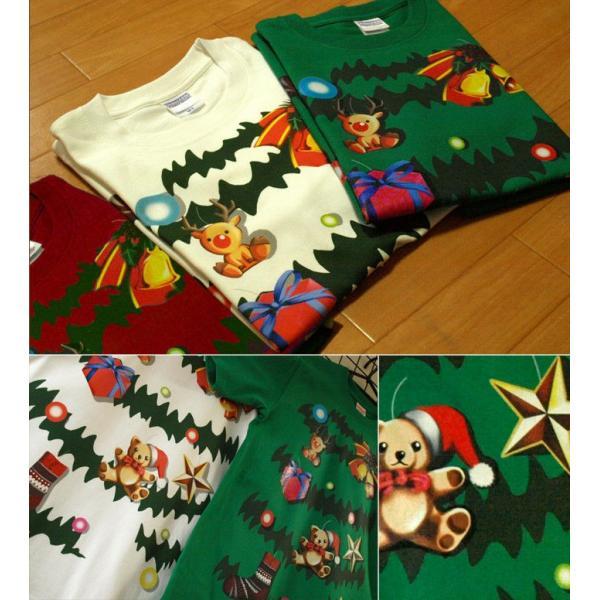 Tシャツ クリスマスツリー スポーツジム|genju|02