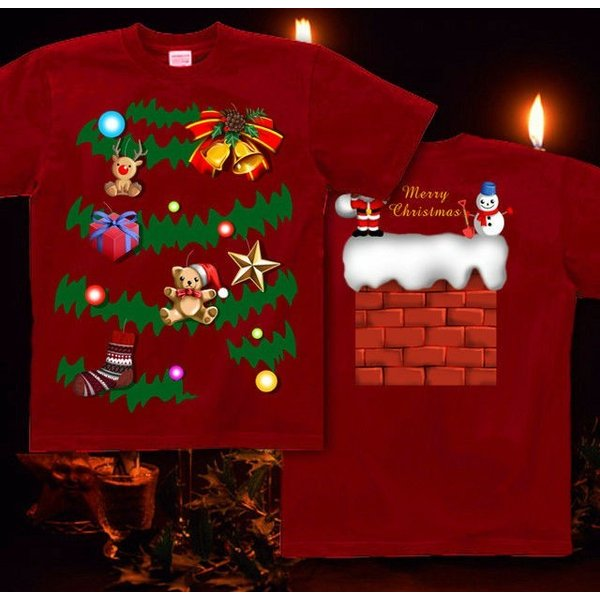 Tシャツ クリスマスツリー スポーツジム|genju|06