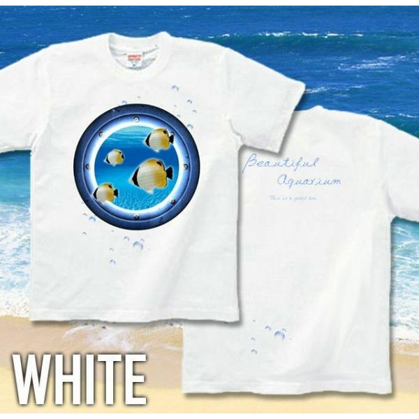 Tシャツ チョウチョウウオ 海 夏 水族館|genju|05