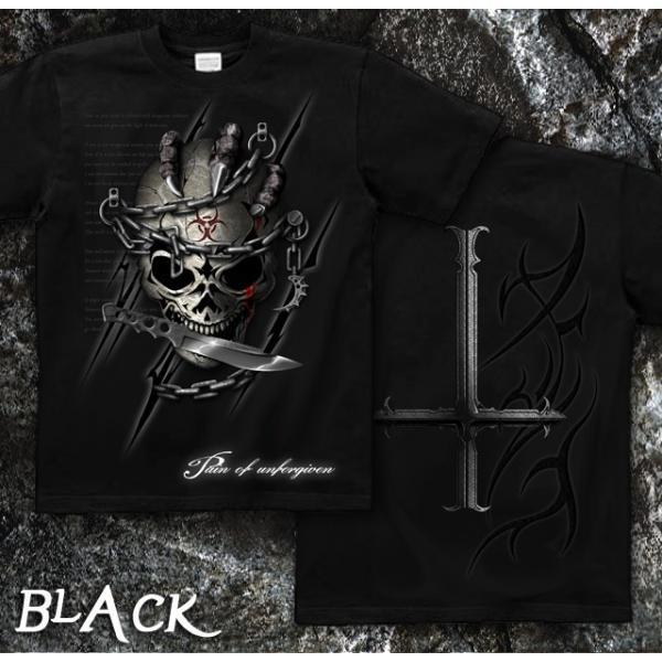 Tシャツ スカル ロック メタル ナイフ genju 06