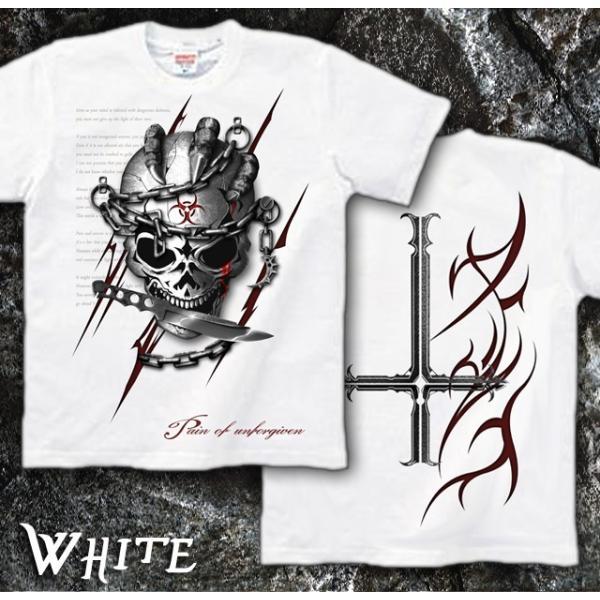 Tシャツ スカル ロック メタル ナイフ genju 07