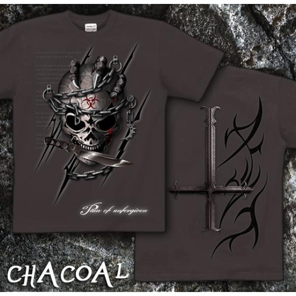 Tシャツ スカル ロック メタル ナイフ genju 08