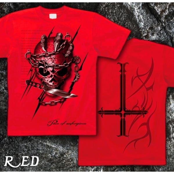Tシャツ スカル ロック メタル ナイフ genju 10