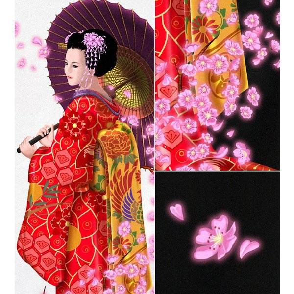 Tシャツ 桜 花見 和柄 舞妓 京都 土産 genju 03