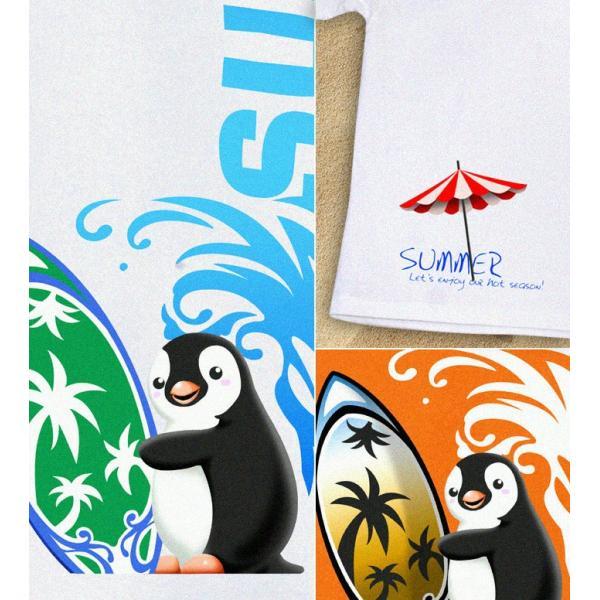 GENJU 夏Tシャツ メンズ サーフィン 海 ペンギン genju 02