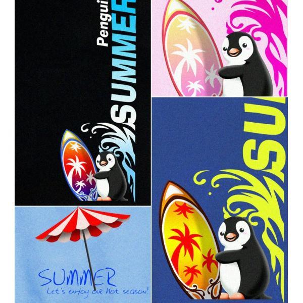 GENJU 夏Tシャツ メンズ サーフィン 海 ペンギン genju 03