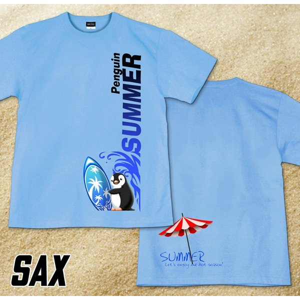 GENJU 夏Tシャツ メンズ サーフィン 海 ペンギン genju 07