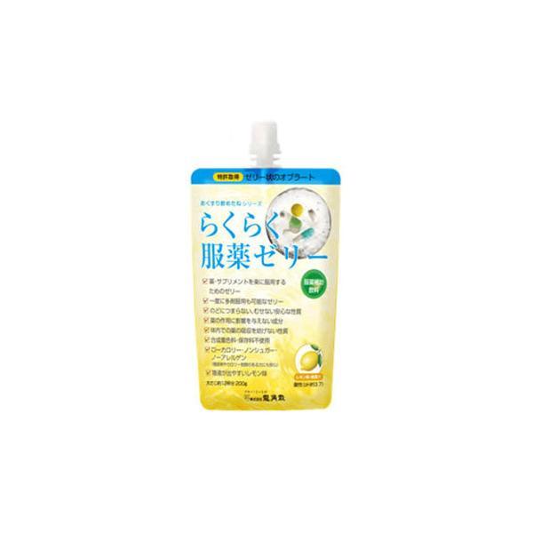 らくらく服薬ゼリー レモン味 200g×5 服薬補助飲料 ゼリー状オブラート 株式会社龍角散