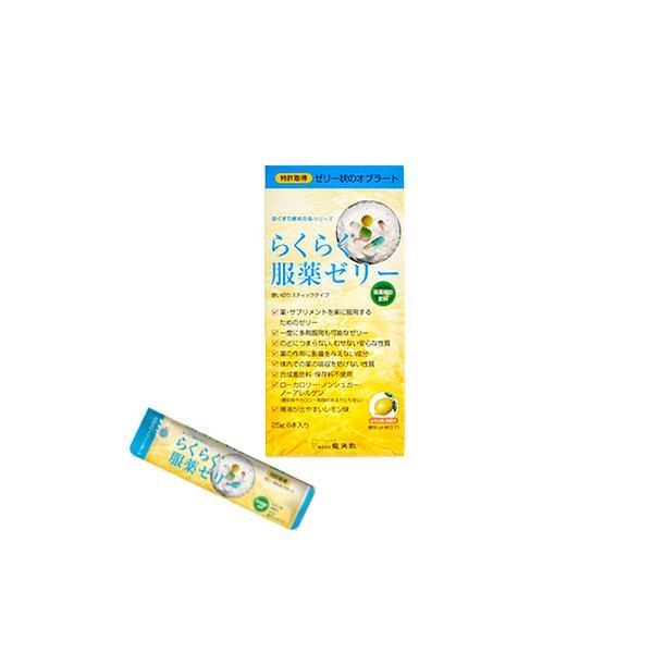 らくらく服薬ゼリー レモン味 25g×6本入 服薬補助飲料 ゼリー状オブラート 株式会社龍角散