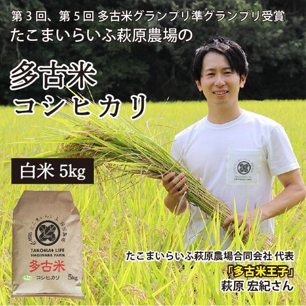 <令和元年度産>送料無料 萩原さん家の多古米(白米5kg) genkibuta