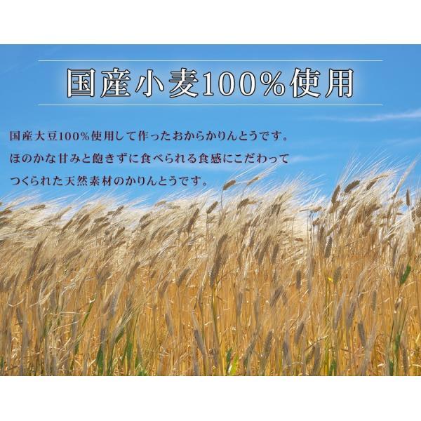 おからかりんとう 4種類の味(プレーン・きなこ・ごま・小松菜)国産大豆100% 70g×8袋|genkiya6090|03