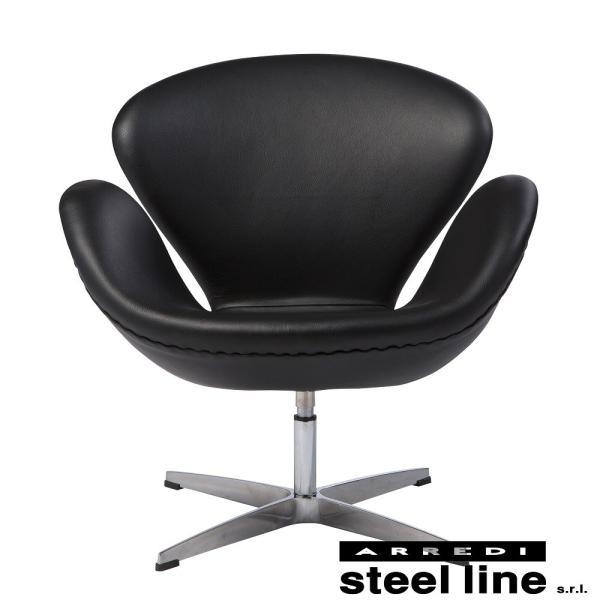 アルネ・ヤコブセン スワンチェア スティールライン社DESIGN900 (steelline) genufine-store