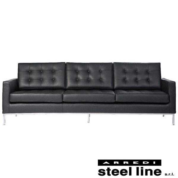 *20%OFFクーポン対象* フローレンス・ノール ソファ3P スティールライン社DESIGN900 (steelline)|genufine-store
