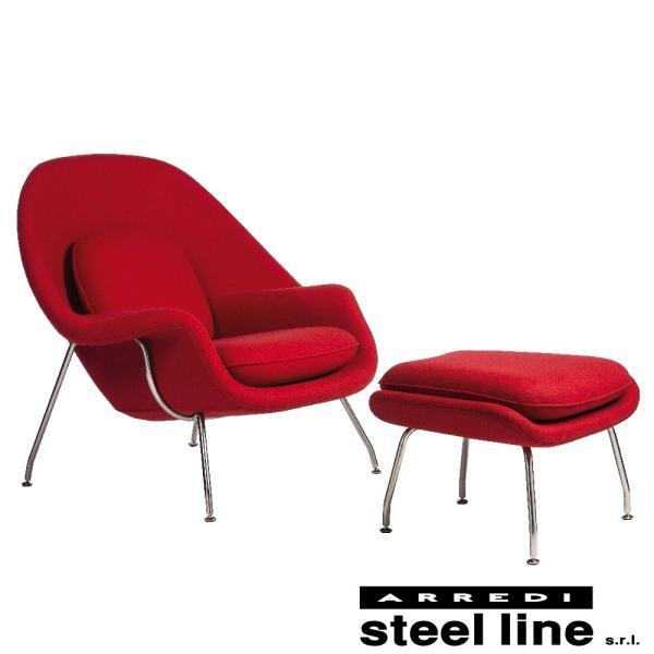 エーロ・サーリネン ウームチェア オットマンセット スティールライン社DESIGN900 (steelline)|genufine-store