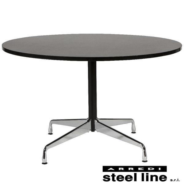 チャールズ&レイ・イームズ セグメントテーブル(φ120) スティールライン社DESIGN900 (steelline)|genufine-store