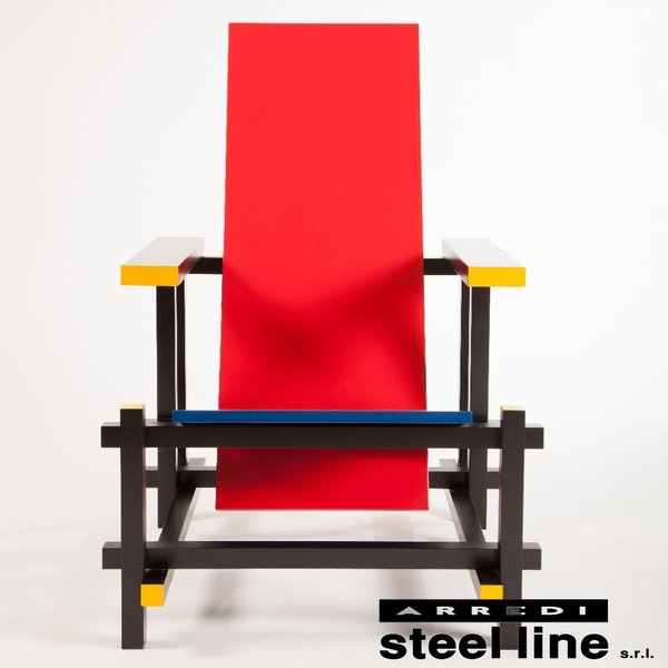 ヘリット・トーマス・リートフェルト レッド&ブルーチェア スティールライン社DESIGN900 (steelline)|genufine-store|02