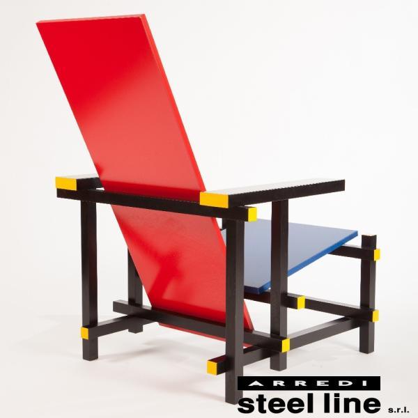 ヘリット・トーマス・リートフェルト レッド&ブルーチェア スティールライン社DESIGN900 (steelline)|genufine-store|03