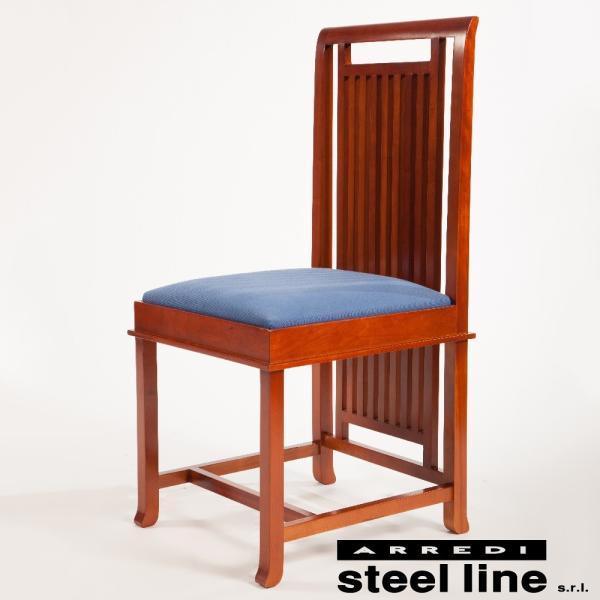 フランク・ロイド・ライト COONLEYハイバックチェア スティールライン社DESIGN900 (steelline)|genufine-store|02