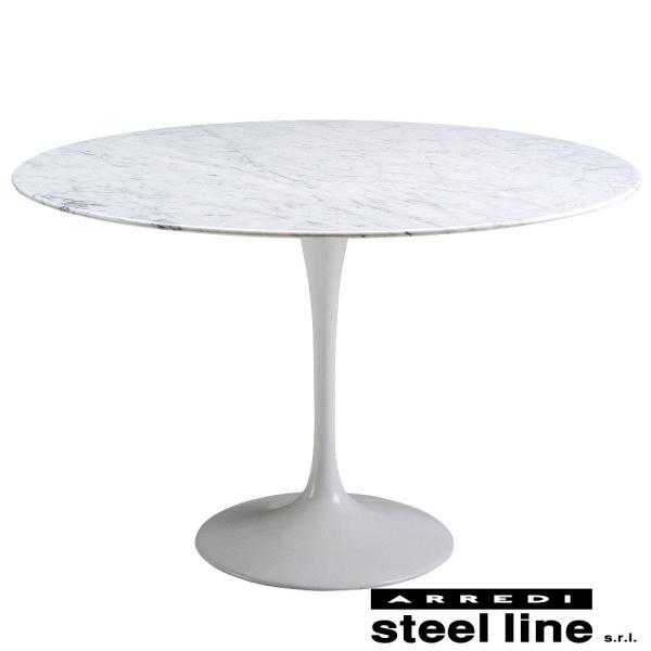 *20%OFF対象* エーロ・サーリネン チューリップダイニングテーブル(φ120) スティールライン社DESIGN900 (steelline)|genufine-store