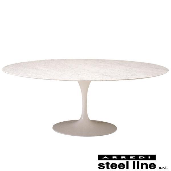*20%OFF対象* エーロ・サーリネン チューリップダイニングテーブル(199×121) スティールライン社DESIGN900 (steelline)|genufine-store