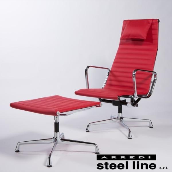 チャールズ&レイ・イームズ エグゼクティブラウンジチェアセット スティールライン社DESIGN900 (steelline)|genufine-store