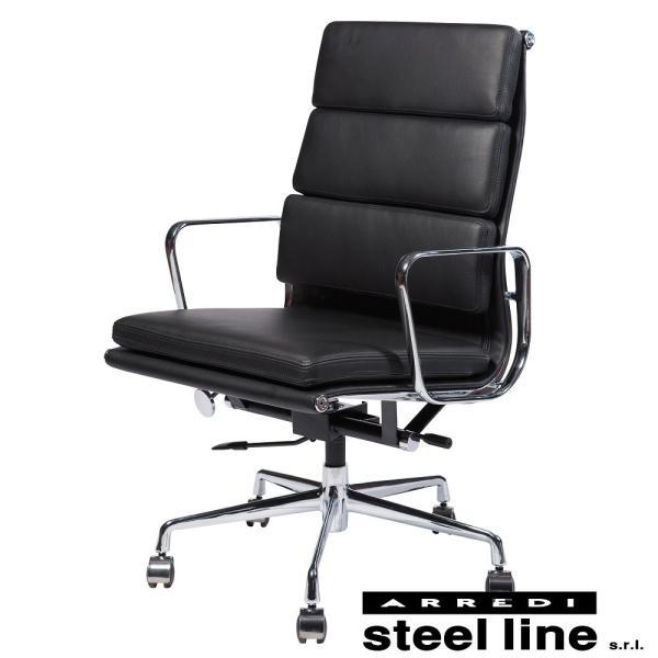 チャールズ&レイ・イームズ アルミナムグループ エグゼクティブチェア(SOFT) スティールライン社DESIGN900 (steelline) genufine-store