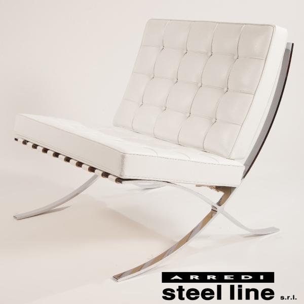ミース・ファン・デル・ローエ バルセロナチェア スティールライン社DESIGN900 (steelline)|genufine-store