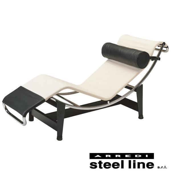 ル・コルビジェ LC4 シェーズロング キャンバス地仕様 スティールライン社DESIGN900 (steelline)|genufine-store