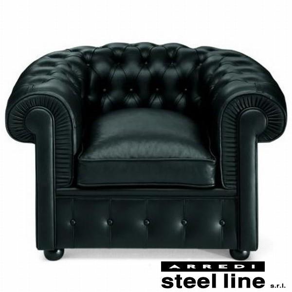 チェスターフィールドソファ1P スティールライン社DESIGN900 (steelline) genufine-store