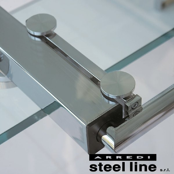 LIFE CLASSシリーズ FORTUNYガラス延長ダイニングテーブル(W180)【ホワイトガラス仕様】 スティールライン社 (steelline)|genufine-store|04