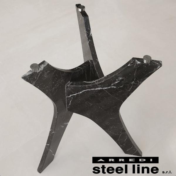 *20%OFF対象* LIFE CLASSシリーズ BRERAガラスダイニングテーブル(φ120) スティールライン社 (steelline) genufine-store 02