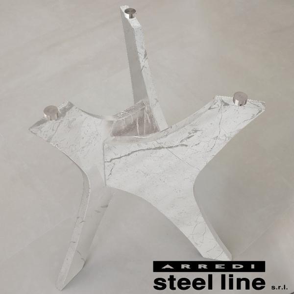 *20%OFF対象* LIFE CLASSシリーズ BRERAガラスダイニングテーブル(φ120) スティールライン社 (steelline) genufine-store 03