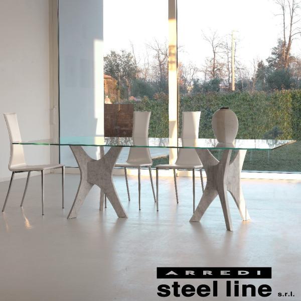 *20%OFF対象* LIFE CLASSシリーズ PHANTEONガラスダイニングテーブル(W220) スティールライン社 (steelline)|genufine-store|02