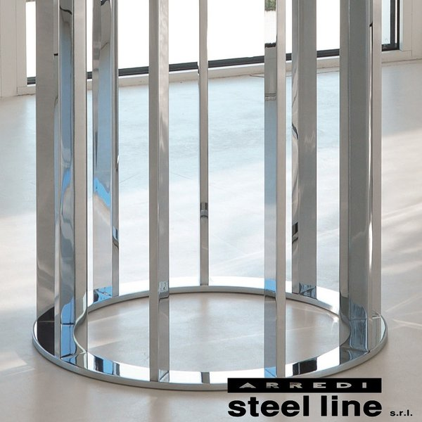 *20%OFF対象* LIFE CLASSシリーズ ASOLOガラスダイニングテーブル(φ140) スティールライン社 (steelline)|genufine-store|02