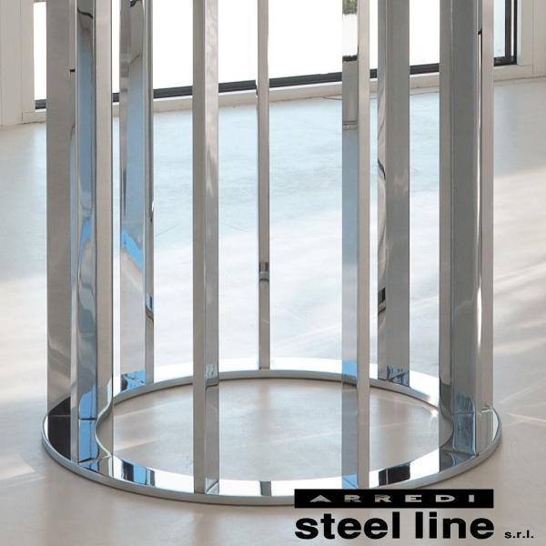 LIFE CLASSシリーズ ASOLOガラスダイニングテーブル(φ120) スティールライン社 (steelline)|genufine-store|02