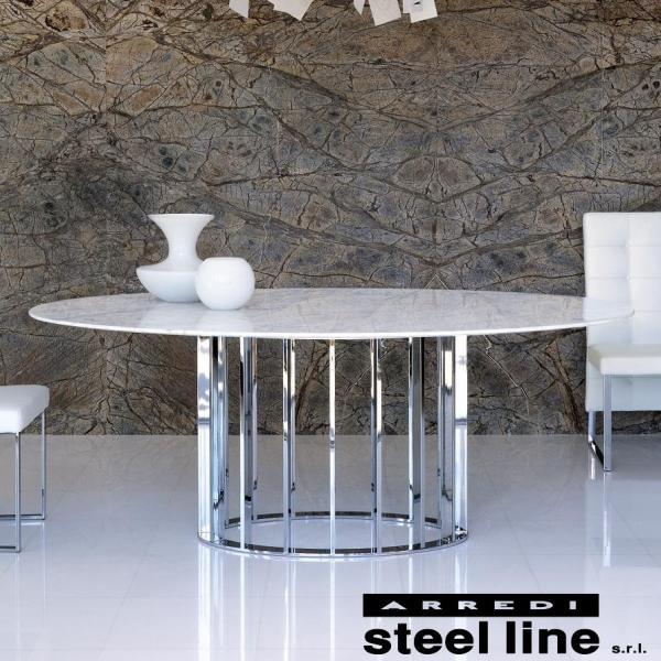 LIFE CLASSシリーズ EMBASSY大理石ダイニングテーブル スティールライン社 (steelline)|genufine-store|02