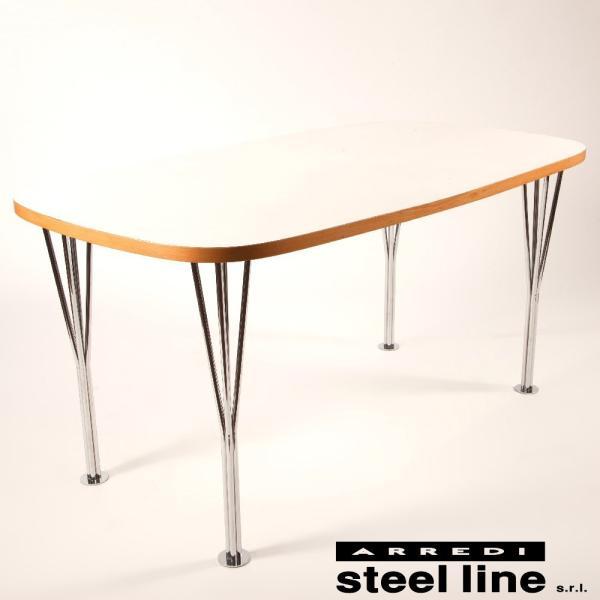 アルネ・ヤコブセン スーパー楕円テーブル スティールライン社DESIGN900 (steelline)|genufine-store