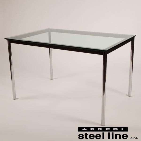 ル・コルビジェ LC10 120×80×72 スティールライン社DESIGN900 (steelline) genufine-store