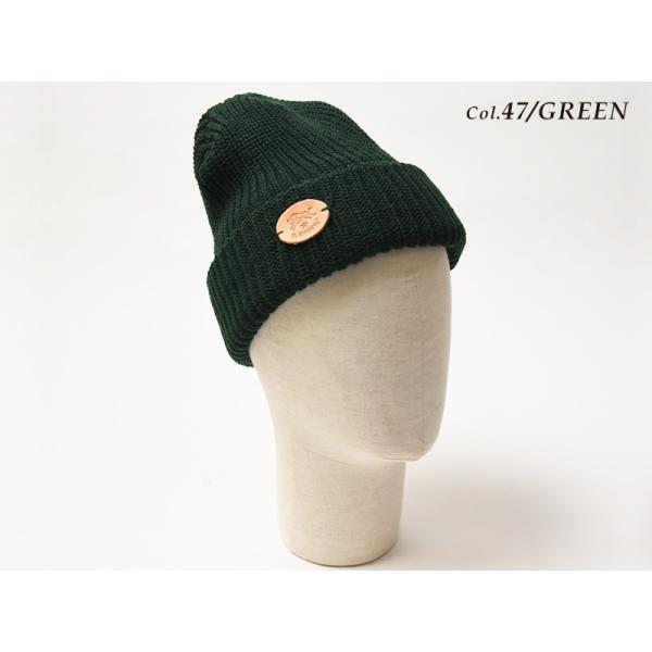 イルビゾンテ IL BISONTE ニット帽(ブラック)レザーパッチ付きニットキャップ/ニット帽 54182309183 レディース メンズ プレゼント【無料ラッピング対応】|geostyle|04