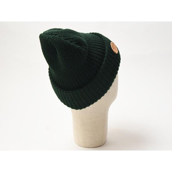 イルビゾンテ IL BISONTE ニット帽(ブラック)レザーパッチ付きニットキャップ/ニット帽 54182309183 レディース メンズ プレゼント【無料ラッピング対応】|geostyle|05