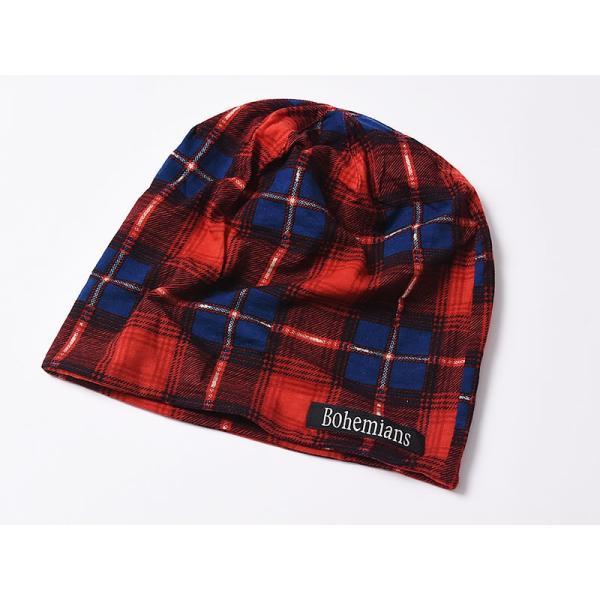 【人気第9位】ラッピング無料 ボヘミアンズ Bohemians オールドチェック ワッチキャップ メンズ レディース 帽子 OLD CHECK BH-09 geostyle 03