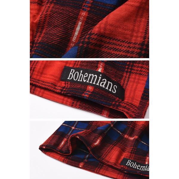【人気第9位】ラッピング無料 ボヘミアンズ Bohemians オールドチェック ワッチキャップ メンズ レディース 帽子 OLD CHECK BH-09 geostyle 05
