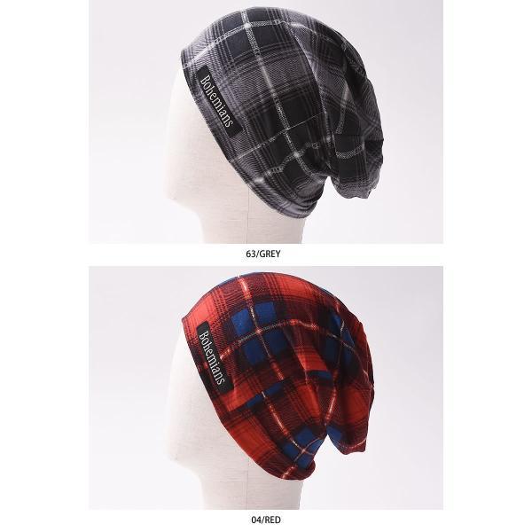 【人気第9位】ラッピング無料 ボヘミアンズ Bohemians オールドチェック ワッチキャップ メンズ レディース 帽子 OLD CHECK BH-09 geostyle 06