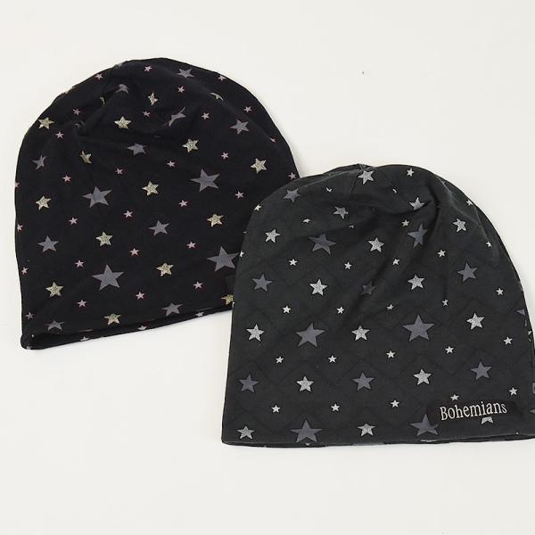 Bohemians ボヘミアンズ ワッチキャップ 帽子 スパークスター 星柄 メンズ レディース 人気 SPARK STAR BH-09 ケア帽子 インナーキャップ geostyle 02