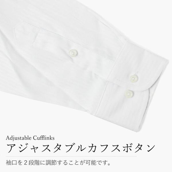 ワイシャツ Yシャツ 長袖 お試し1枚 メンズ ボタンダウン ビジネス ネクタイ1本プレゼント ストライプ 袖 長い gerbera-2 06