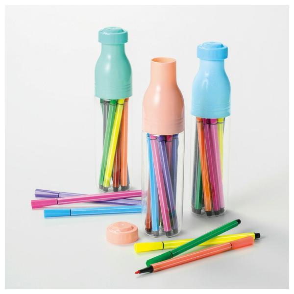 ボトル型ケース入りカラーペン12色セット