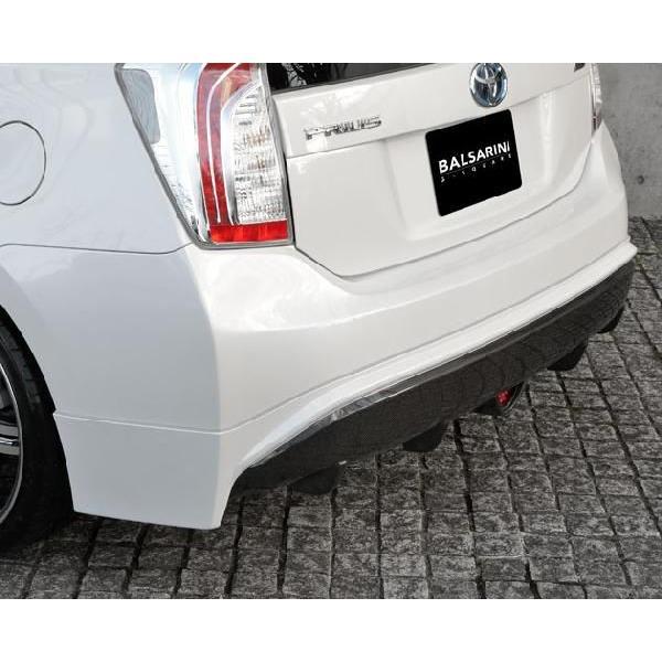 プリウス 30系 MC後 リアアンダースポイラー カーボン+塗装済 BALSARINI PRIUS gfactory 04