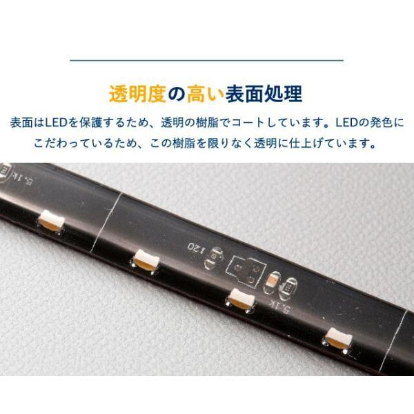 シーケンシャルウインカー 流れるウインカー LED テープライト 12V 60センチ 30連 2本入り シリコン 簡単取付 保証1年 送料無料|gfactory|12