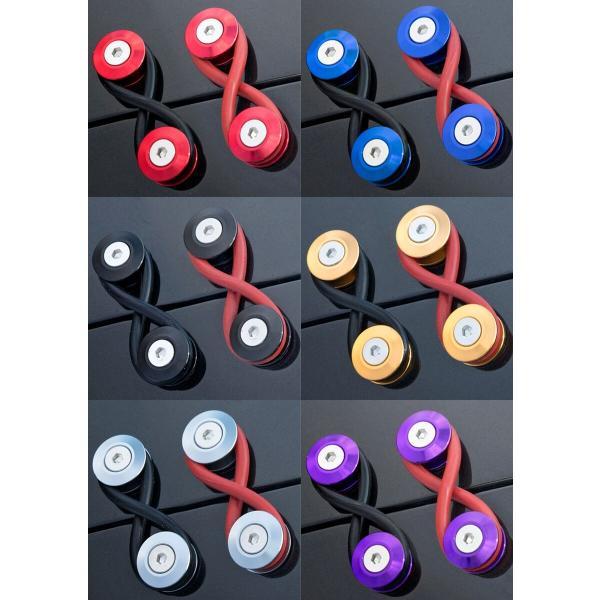 穴あけ不要 クイックリリース ファスナー ダミー バンパー トランク レッド ブルー ブラック グリーン ゴールド グラファイト アルミ製|gfactory|10
