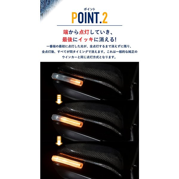 シーケンシャルウインカー 流れるウインカー LED テープライト 12V 17センチ 28連 2本入り クリアチューブ 簡単取付 保証半年 送料無料|gfactory|05